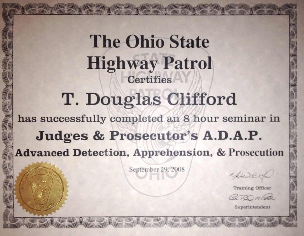 Certification Of Ohio State Patrol Adap Prosecutors Training Yelp
