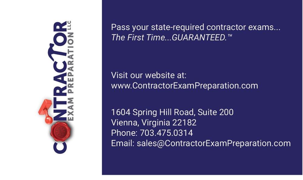 Contractor Exam Preparation Test Preparation 1765