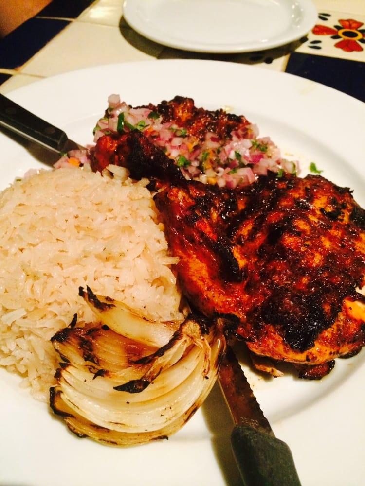 Pollo asado en achiote con arroz blanco y salpicon aka - Comidas con arroz blanco ...