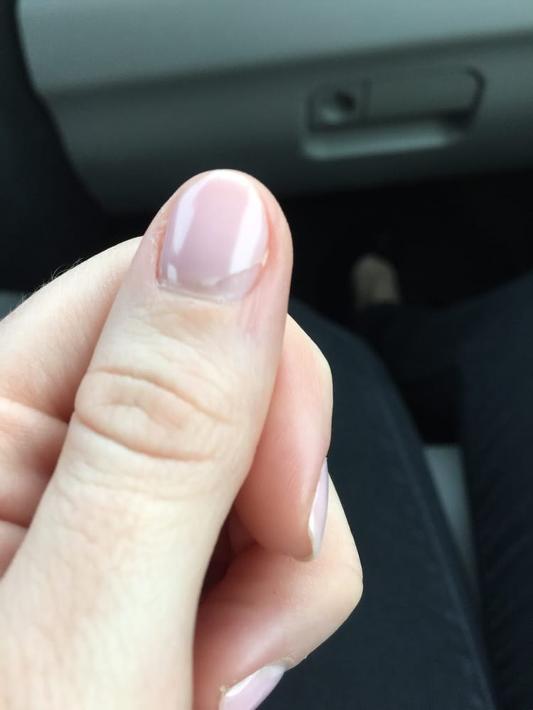 Almost every single nail is chipping from the bottom up. I was able ...