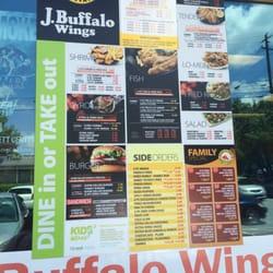 J Buffalo Menu J Buffalo Wings - 22 f...