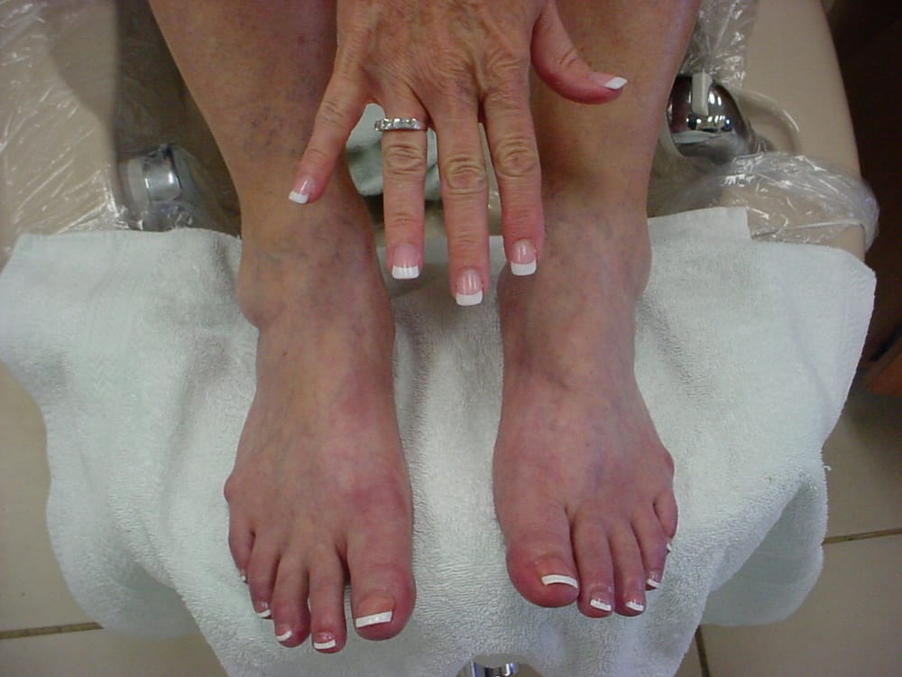 Pink & white, french pedicure - Yelp