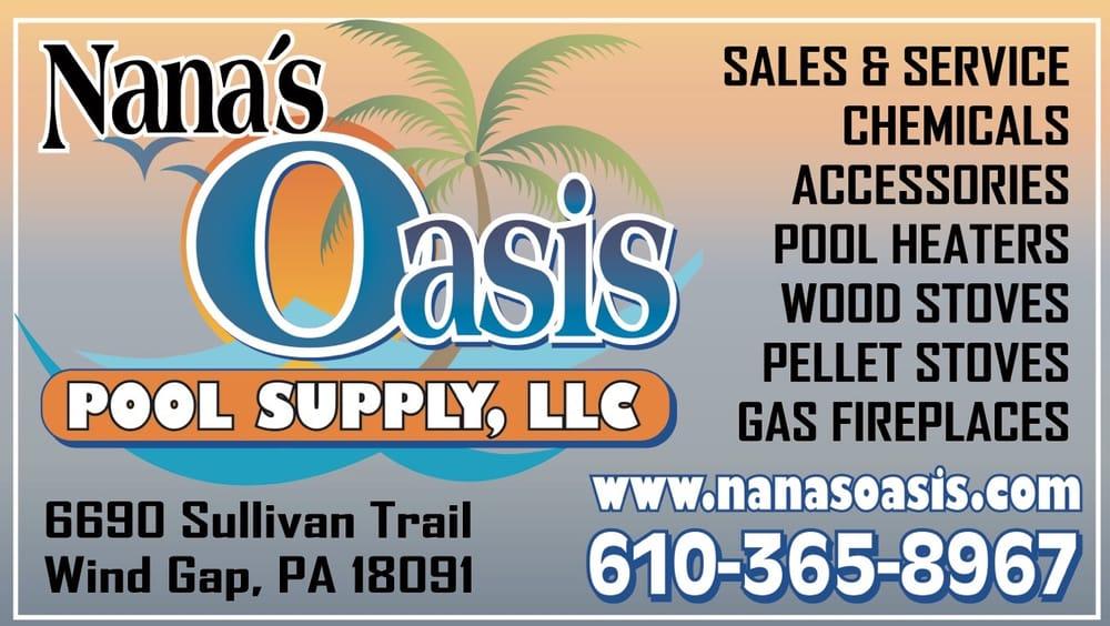 Nana's Oasis Pool Supply: 6690 Sullivan Trl, Wind Gap, PA