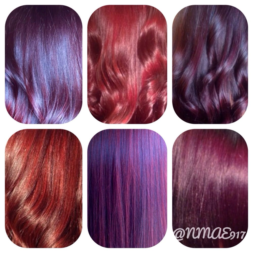 Pics For Gt Shades Of Purple Hair Color Chart Of Hair ...