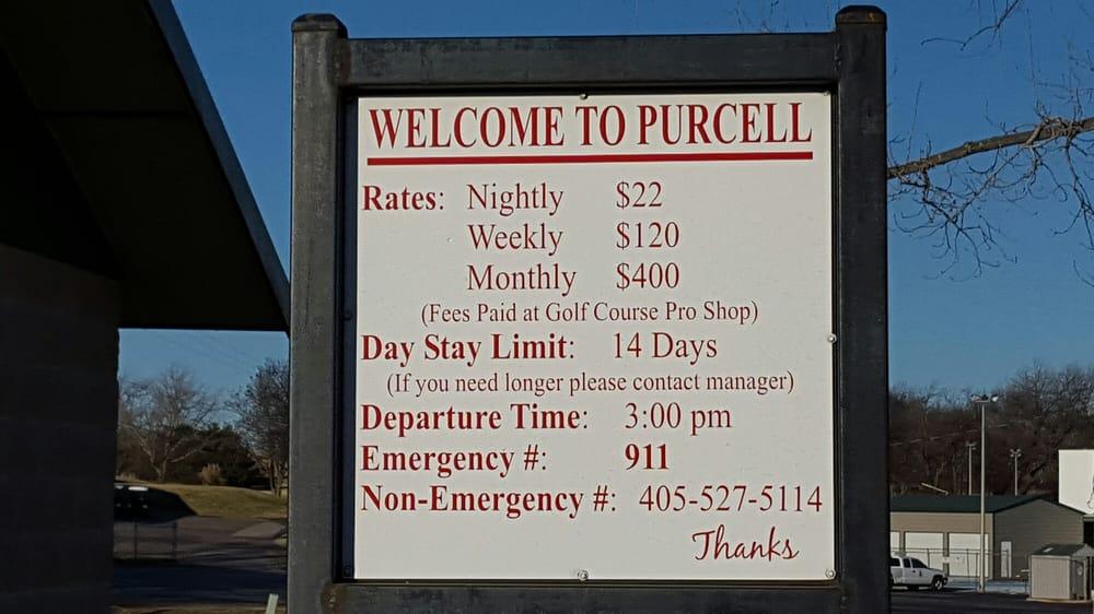 Chandler City RV Park: Chandler Rd, Purcell, OK