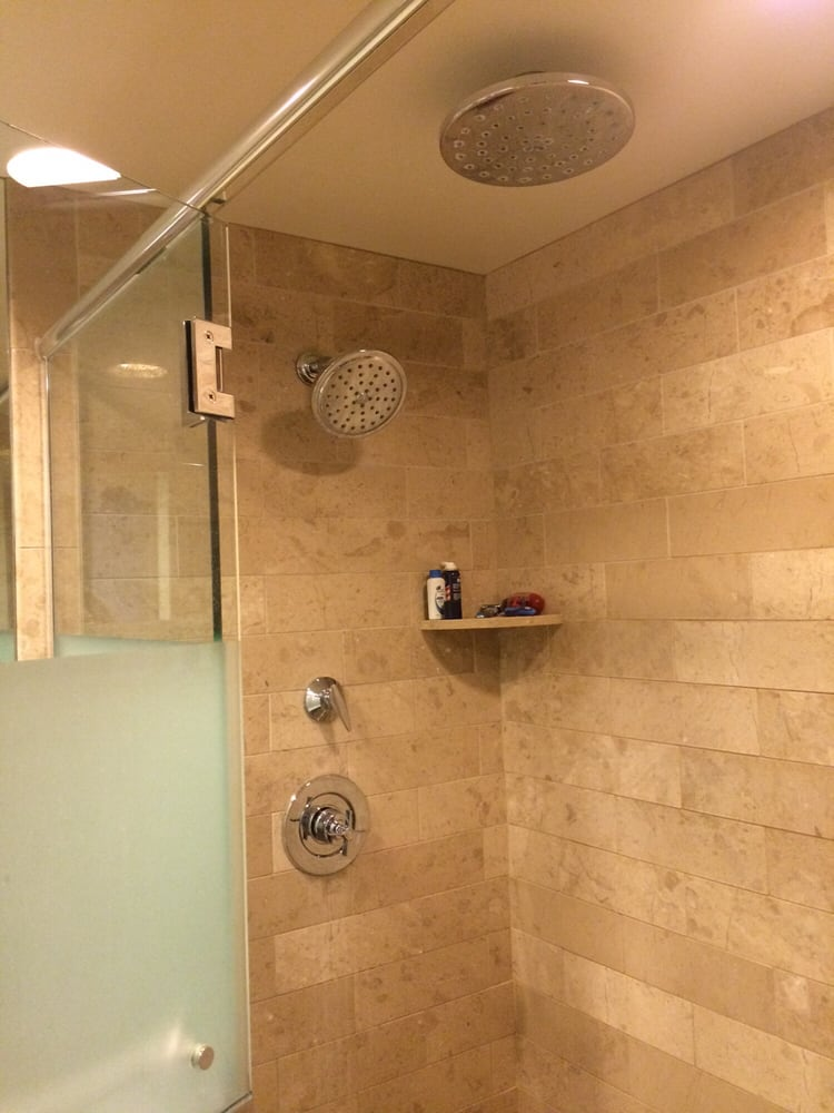 Dual shower heads in our standard room\'s bathroom! - Yelp