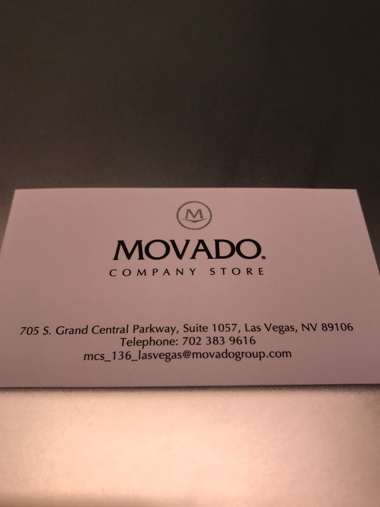 Movado Group - Watches - 705 S Grand Central Pkwy, Downtown, Las ...