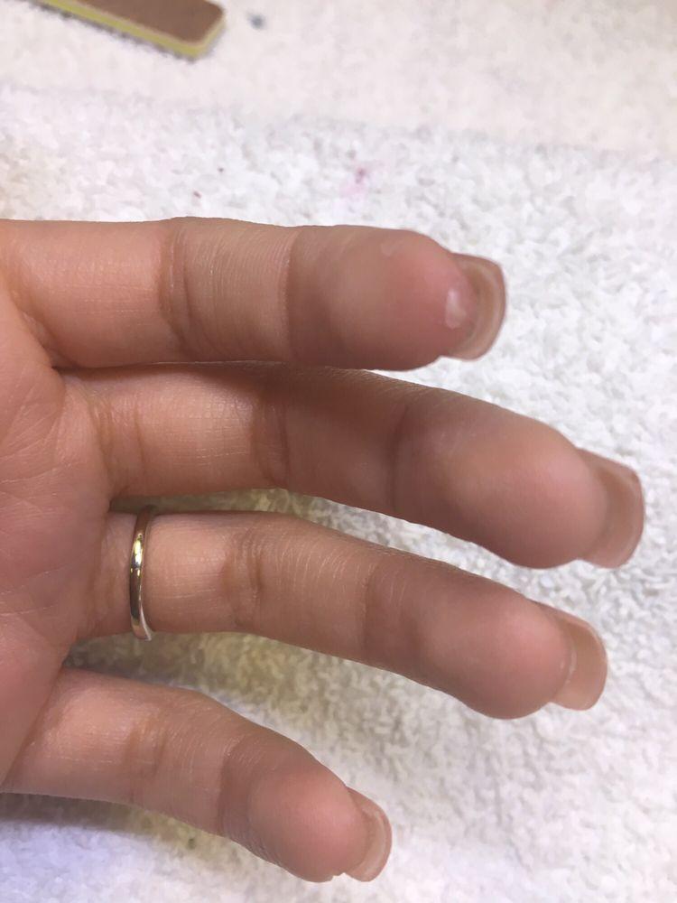 Acrylic on my fingers - Yelp