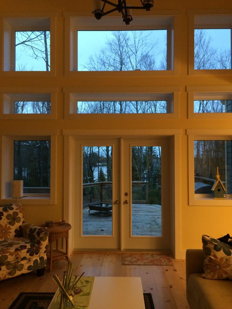 Transom Windows Over Patio Door With Fixed Casement Windows Yelp