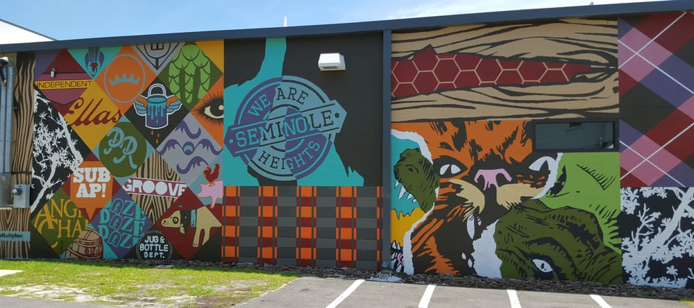 Gorgeous Mural Showcasing Seminole Heights Along The