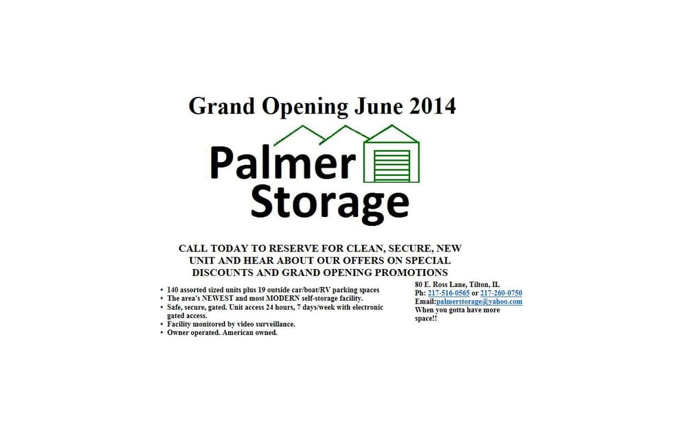 Palmer Storage Self 80 E Ross Ln Tilton Il Phone Number Yelp