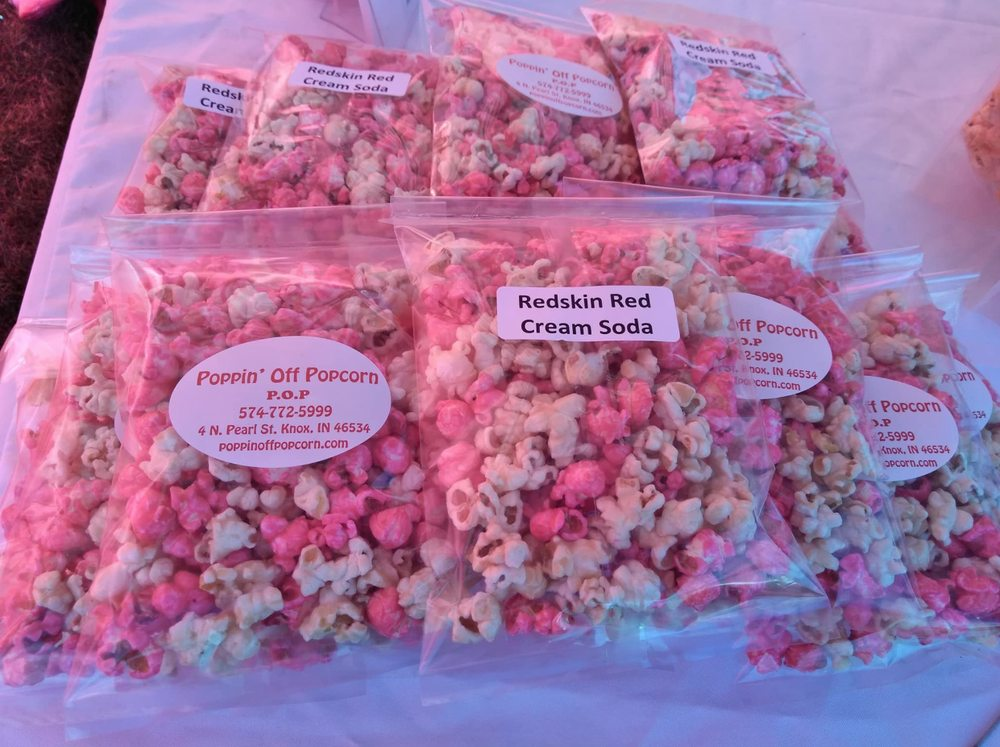 Poppin' Off Popcorn: 4 N Pearl St, Knox, IN