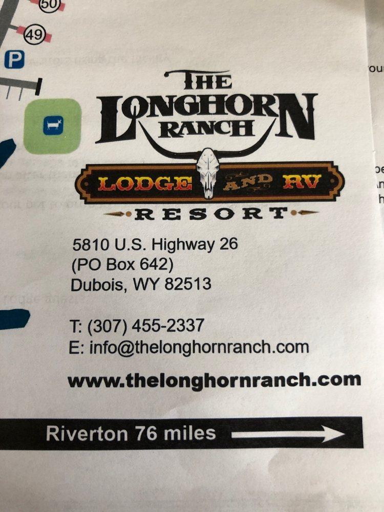 Longhorn RV and Motel: 5810 E US Hwy 26, Dubois, WY