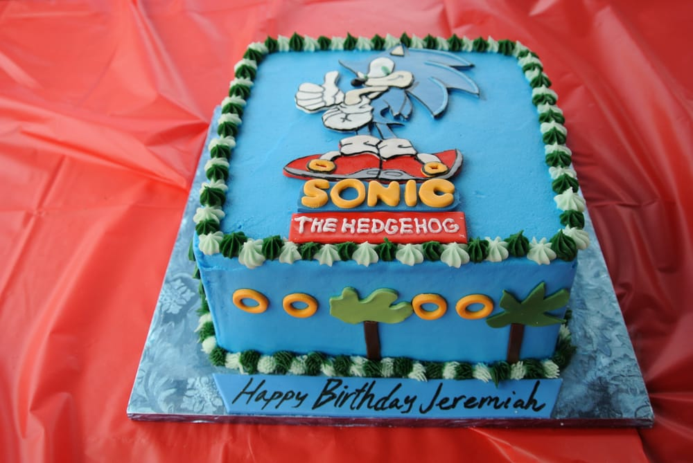 Annettes Cakes Did An Amazing Job With This Sonic The Hedgehog Cake