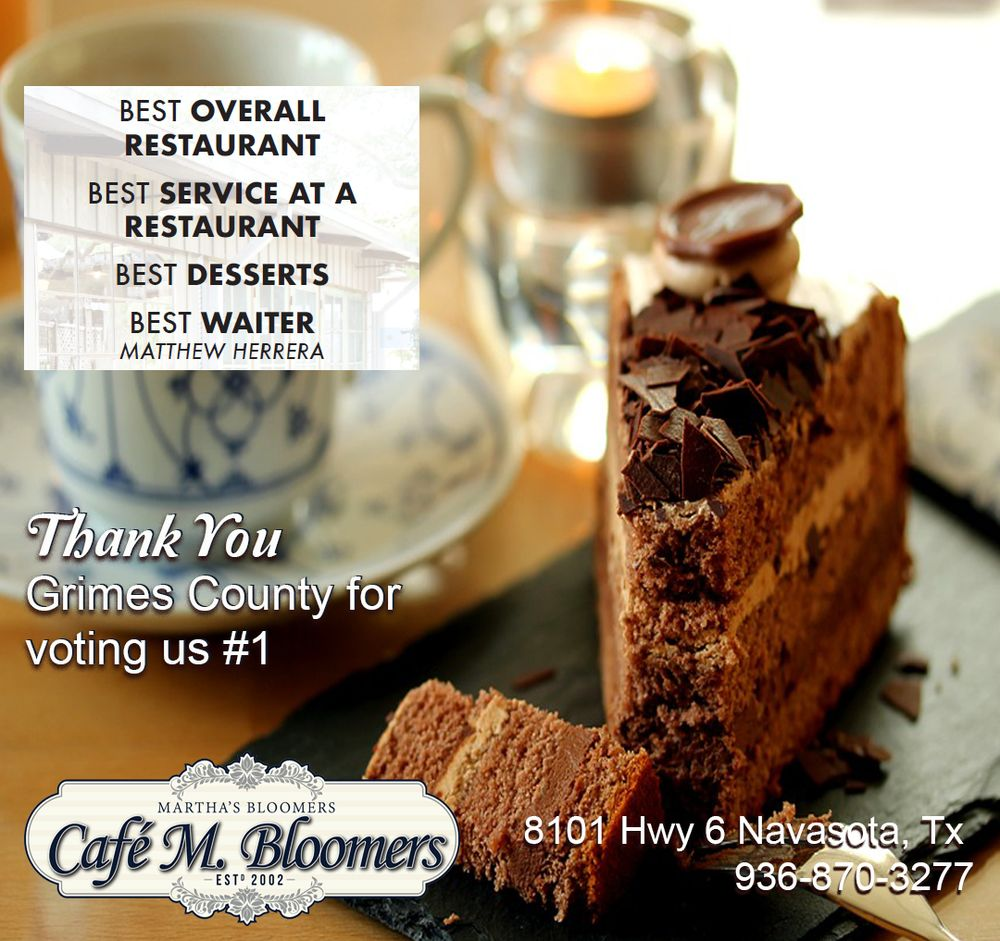 Cafe M Bloomers A Restaurant: 8101 Hwy 6 Bypass, Navasota, TX