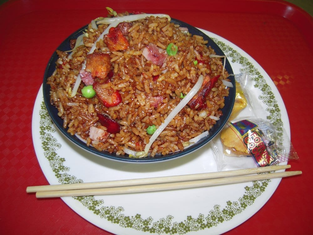 House special fried rice with roast pork, chicken, ham and ...