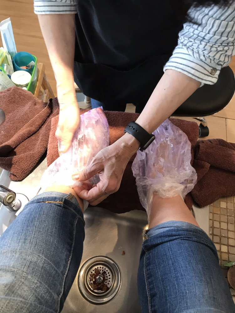 Wax after one of the treatments to make your feet soft - Yelp
