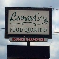 Leonard S Food Quarters Lake Charles Menu
