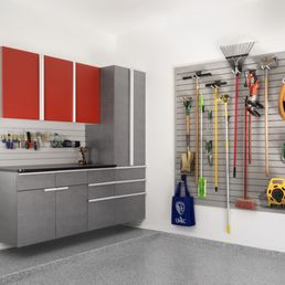 Beautiful Photo Of Tailored Living   Toronto, ON, Canada. Garage Cabinets With Red  Uppers