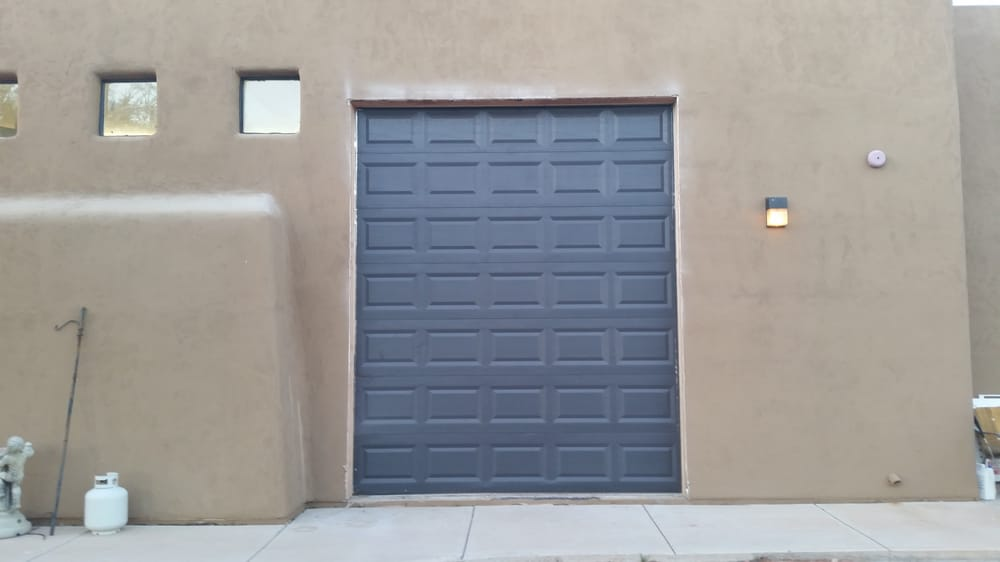 10x12 Clopay T50s Short Panel Customer Painted Black After Install