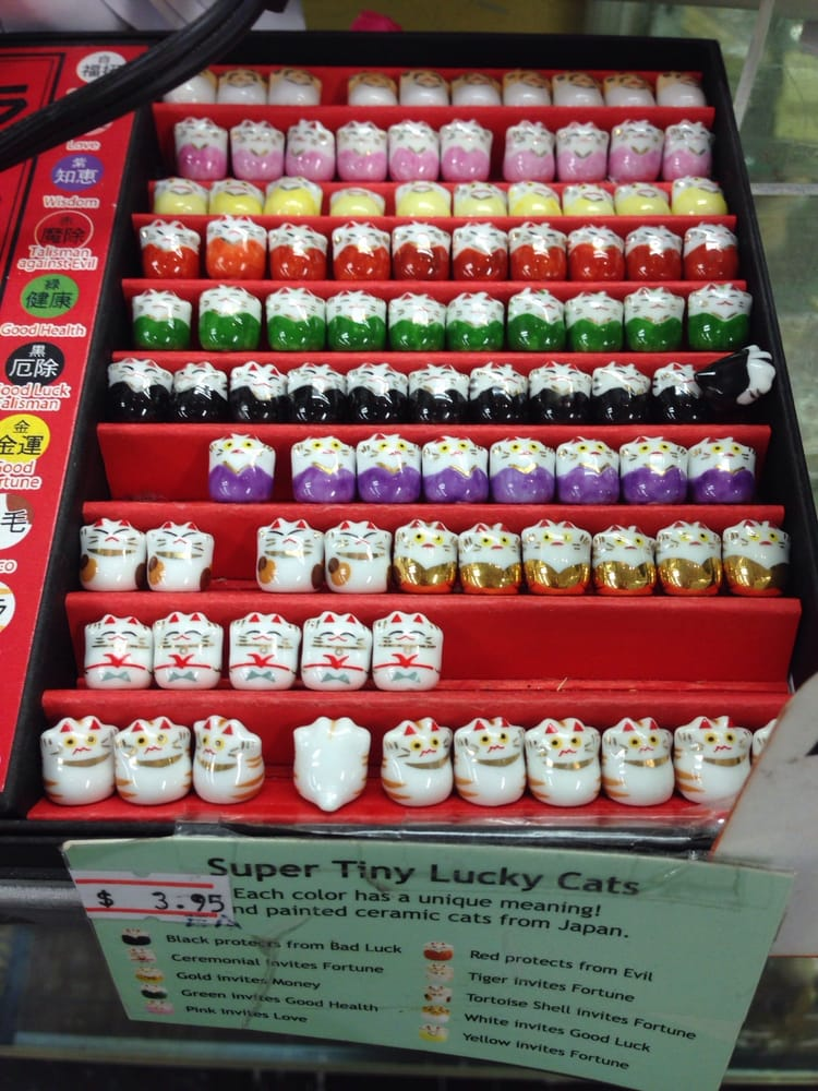 Little lucky cats!! How do you not collect one color of each