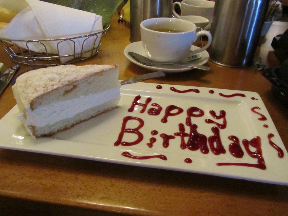 Happy Birthday To Me From Olive Garden Lemon Cream Cake Slice Yelp