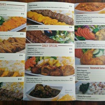 Sumac Restaurant Toronto Menu