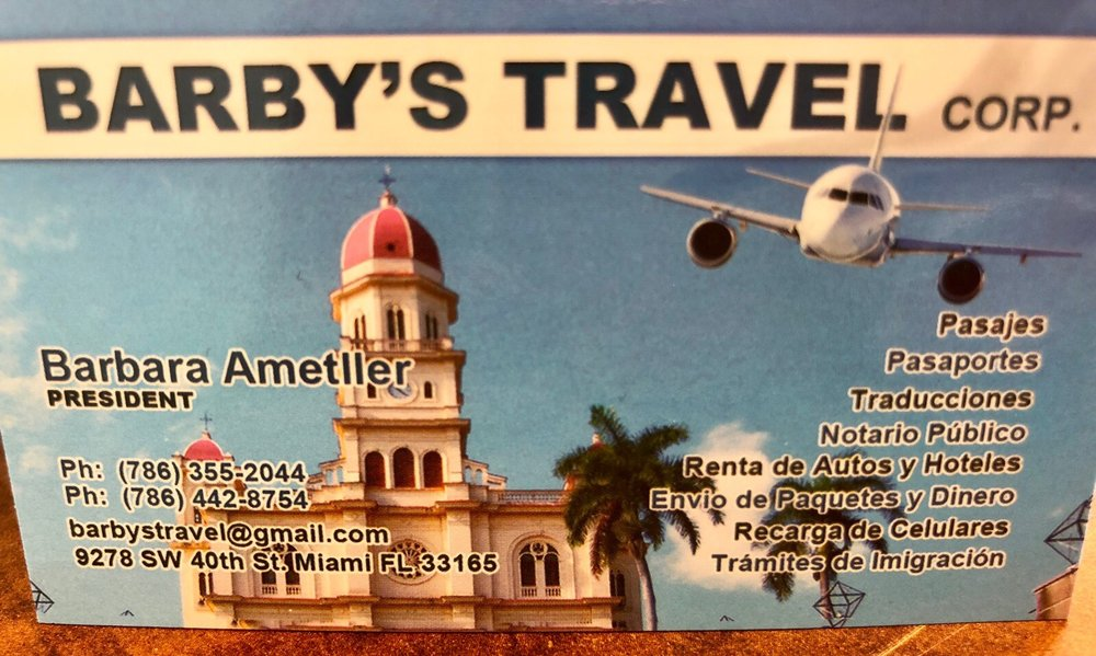 Barby's Travel: 9278 Sw 40th St, Miami, FL