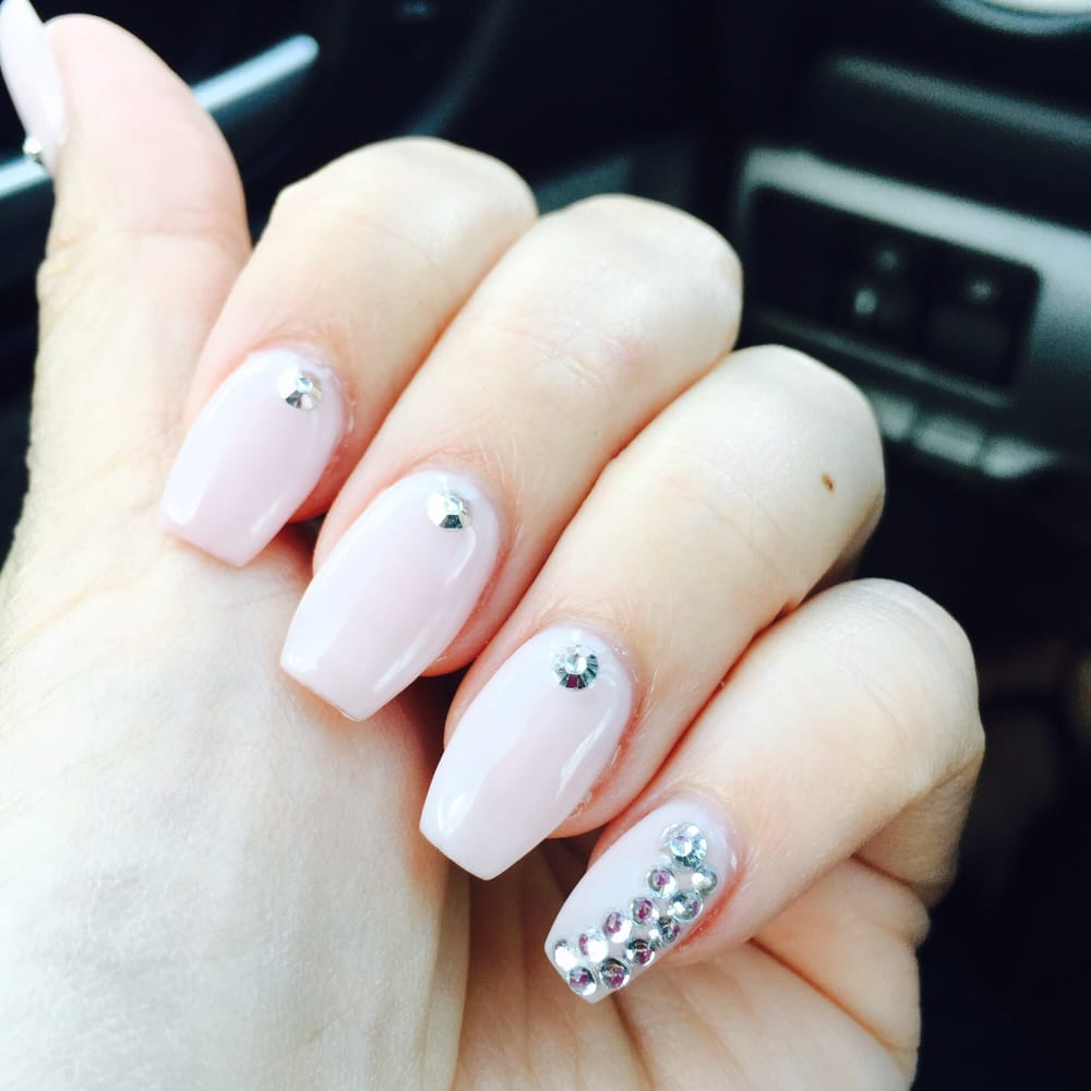 Beautiful nails done by Tammy. Acrylic with gel on top. She is the ...