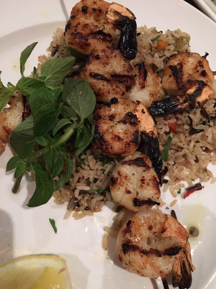 Seafood souvlaki w rice pilaf yelp for Authentic greek cuisine