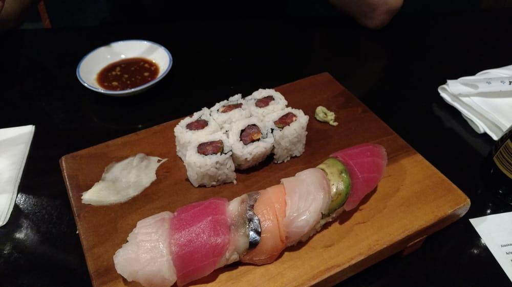 Mackerel Roll And The Rainbow Roll Yelp