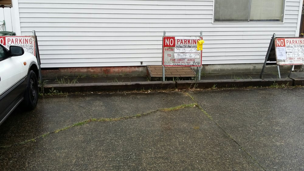 Aa Asphalting Inc : No parking signs permitted for city streets were placed on