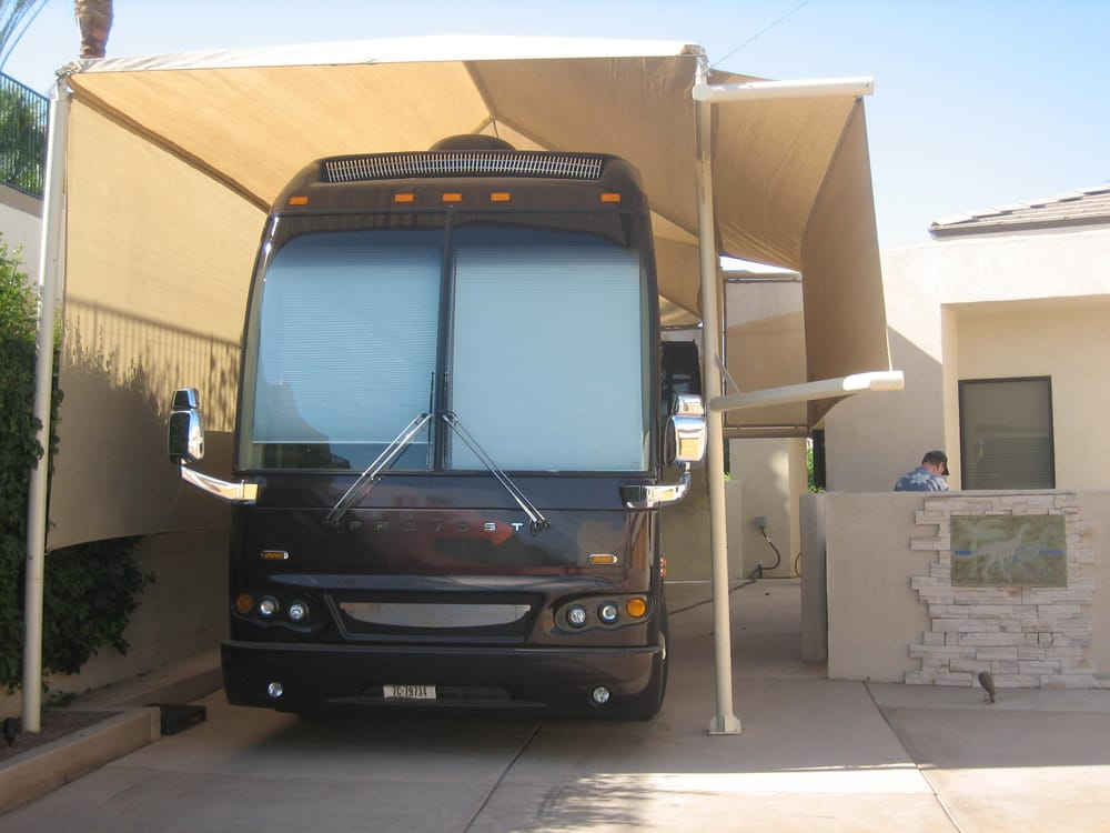 Custom RV Shade structure, Designed and built by Country ...