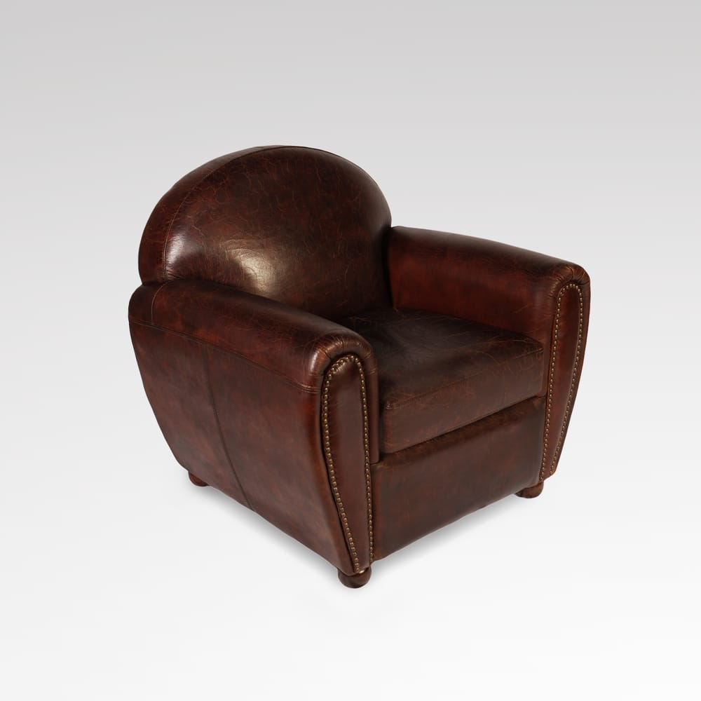 Lazzaro Real Leather Club Chair Yelp