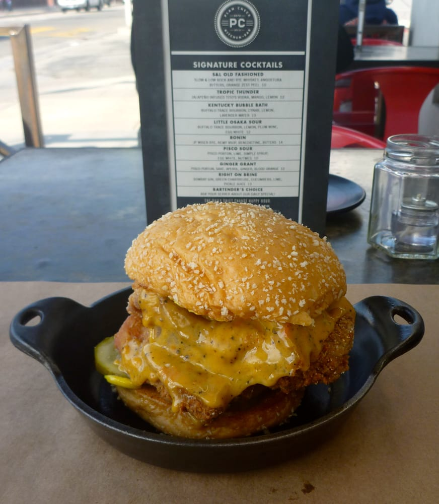 Spicy Fried Chicken Sandwich at Plan Check Sawtelle - Yelp
