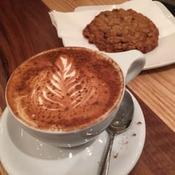... Cafe - Vancouver, BC, Canada. Soy chai latte + oatmeal raisin cookie