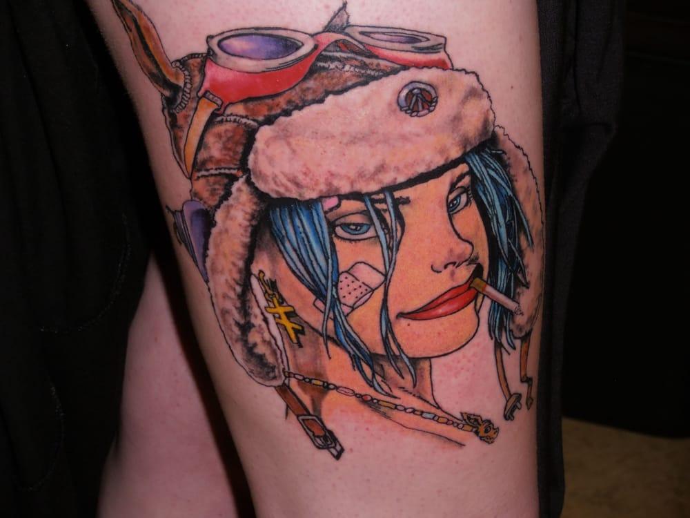 Tank girl award winning tattoo best of day inked for Renaissance tattoo san clemente