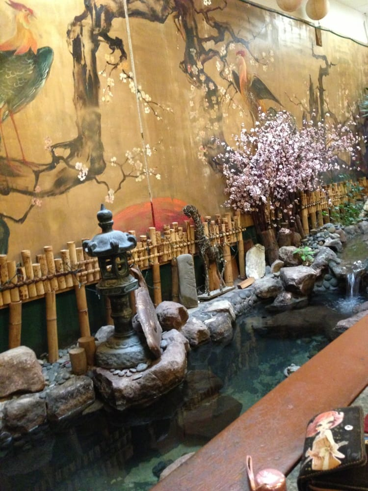 An indoor koi pond in the restaurant yelp for Indoor koi pool