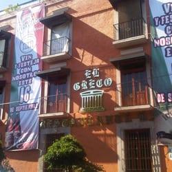 El greco restaurante bar mexican col centro el for El mural restaurante puebla