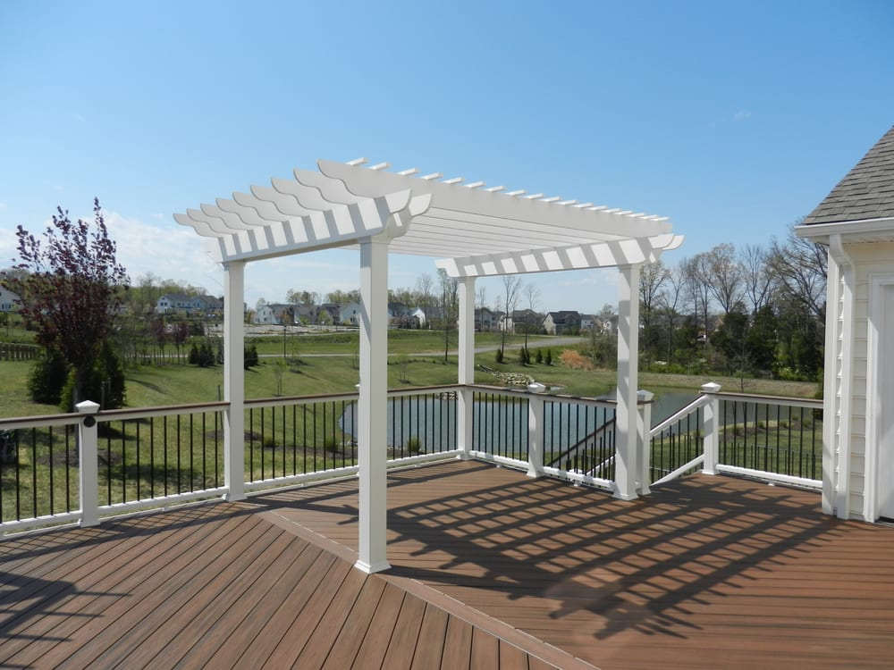 Trex Deck And Railings With Overhead Trellis Yelp