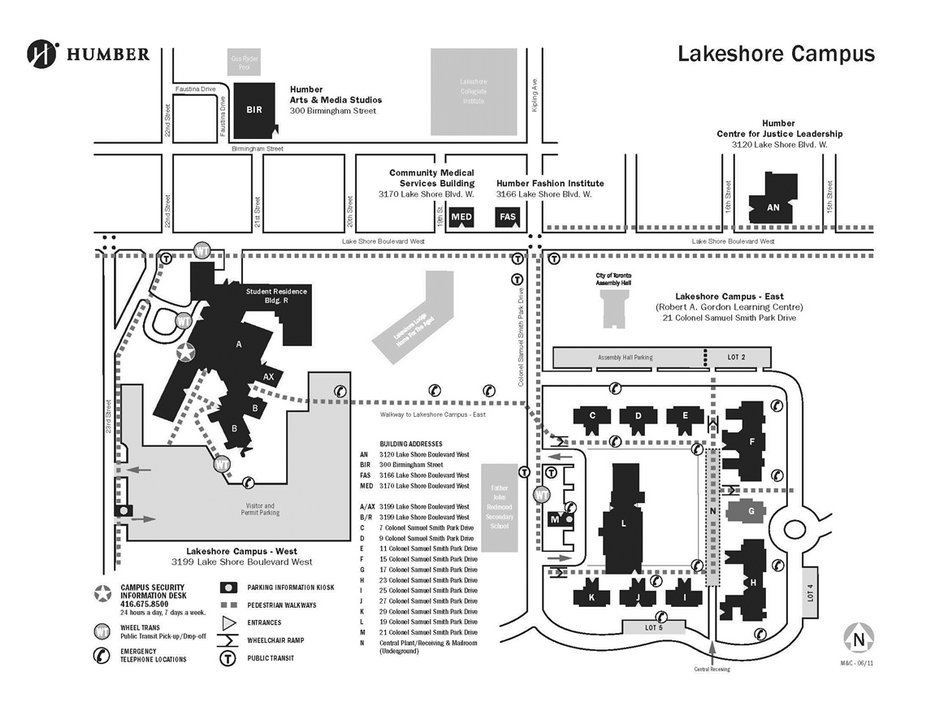 Humber Lakeshore Campus Map Campus map   Yelp Humber Lakeshore Campus Map