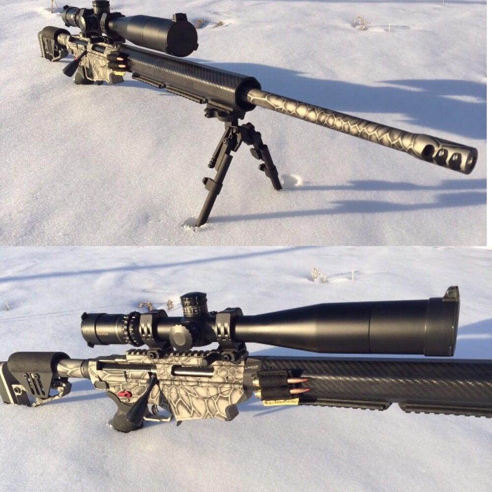 Ruger Precision Rifle. Cerakoted In 3D Kryptek Fade