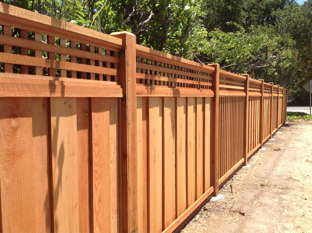 High End Inlay Redwood Fencing Yelp