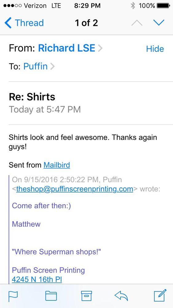 Puffin Tee Shirts