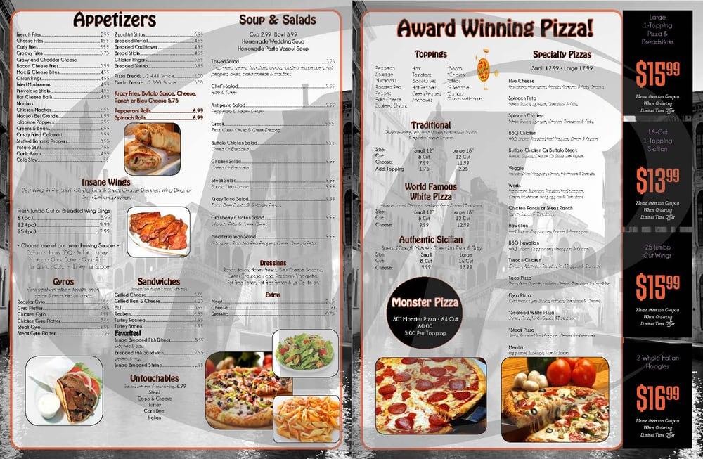 Mckees Restaurant Menu