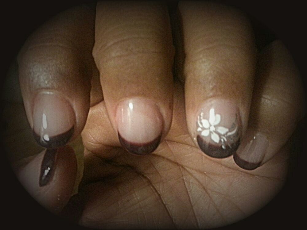 Love my nails. Diamond nail over natural nails for strength. Clear ...