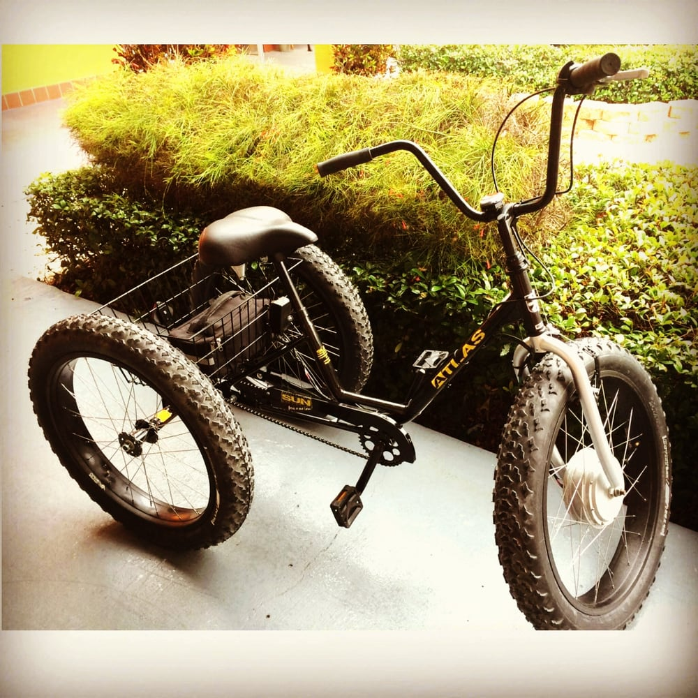 Custom Built Electric Fat Tire Trike