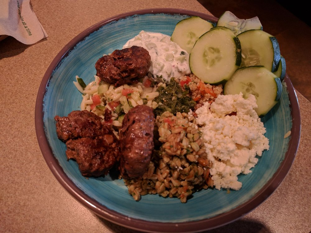The Mediterranean Trio Salad With Lamb Tasty But Smaller