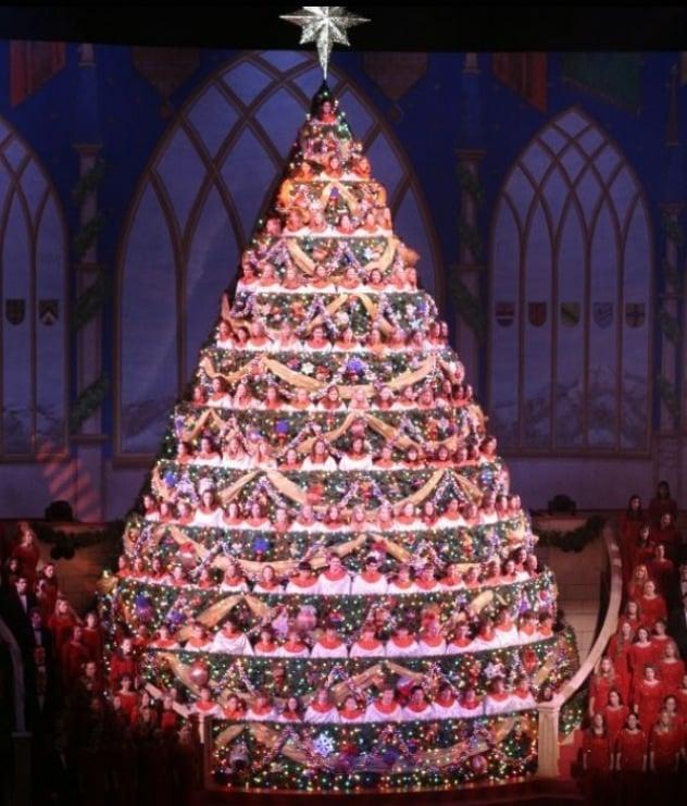 Photo of Bellevue Baptist Church - Cordova, TN, United States. Singing  Christmas Tree - Singing Christmas Tree - Yelp