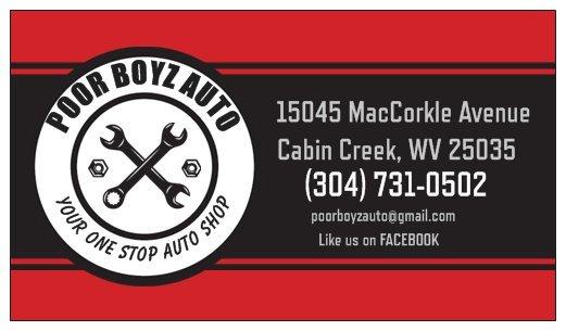 Poor Boyz Auto: 15045 Maccorkle Ave, Cabin Creek, WV